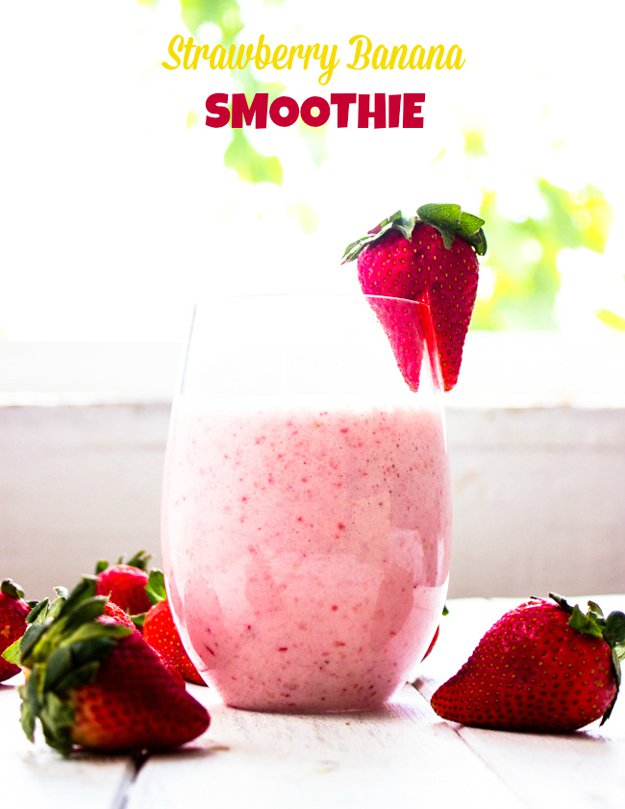 Healthy-Smoothies-Strawberry-Banana-Smoothie